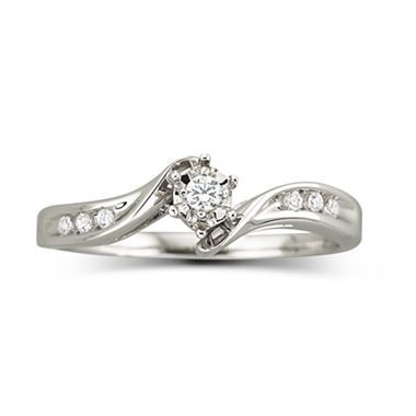 Amazing Diamond Accent Promise Ring Sterling Silver jcpenney