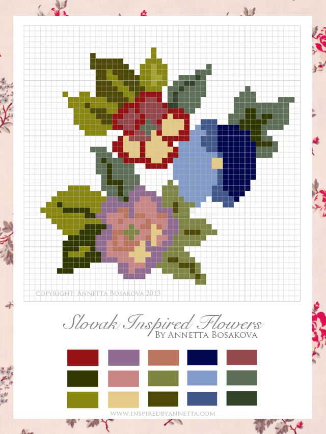 Free Slovak Inspired Cross Stitch Chart | Inspired By Annetta