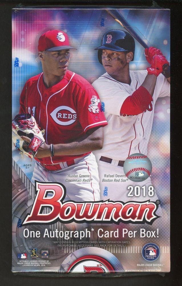 2018 Bowman Baseball Sealed Unopened Hobby Box W 1 Auto Baseball