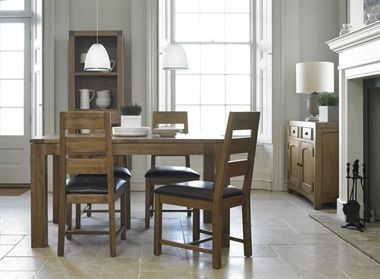 Linford.  The Linford oak dining range is crafted using solid oak and oak veneers, and is hand finished to give the pieces a timeless aged look to suit any interior.