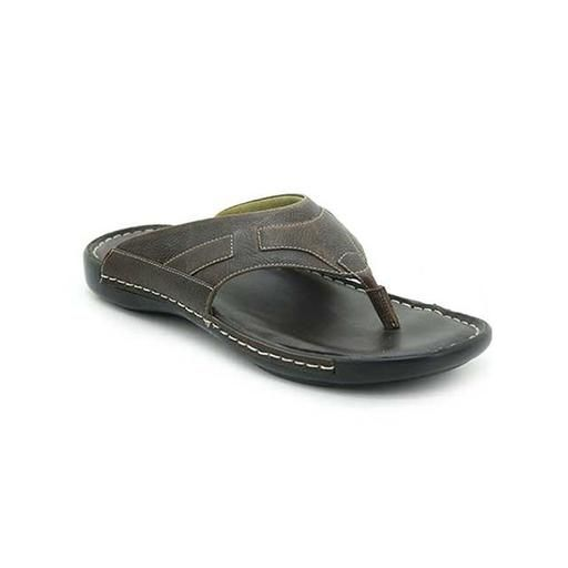 db6bf0120ae Brown Leather Bata Comfit Slippers - 8644802 For Men