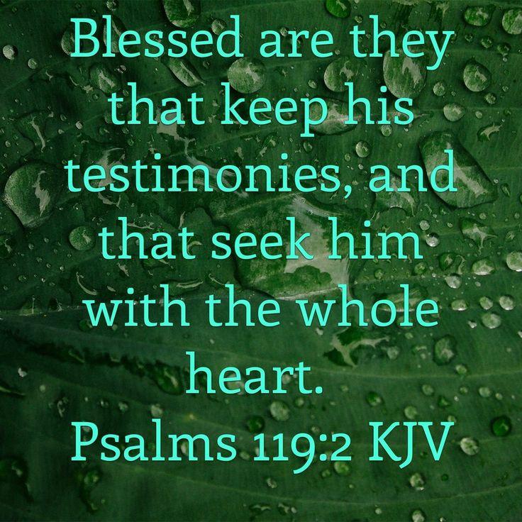 Psalm 119:2 King James KJV