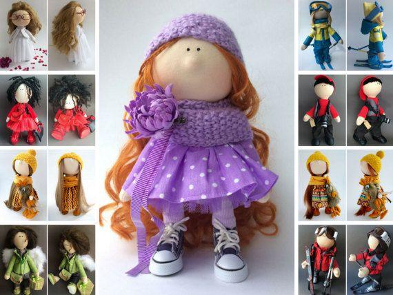 Rag doll Muñecas Soft doll Bambole Puppen Handmade doll Textile doll Tilda doll Interior doll Art doll Violet doll Fabric doll by Oksana K