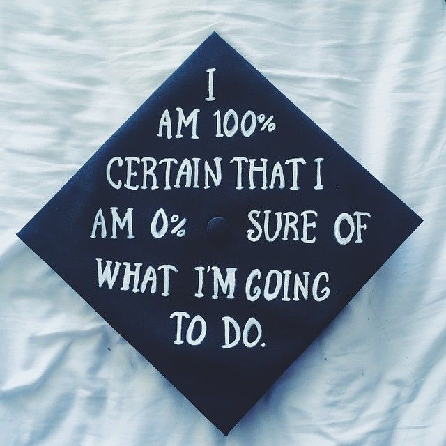Spice up your boring graduation cap and gown with these funny cap decoration ideas!
