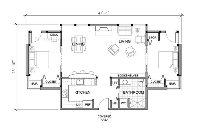 Small One Floor House Plans