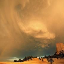 Wild Weather at Devils Tower: Wyoming. Photo by...Scott Frazier