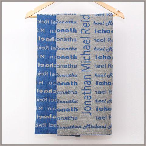 My Blanket NZ: Personalised Baby Blankets | Merino Name pattern bassinet blanket