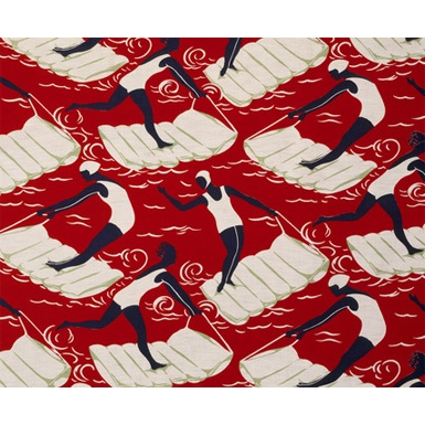Surfers: art deco textile. @Deidré Wallace