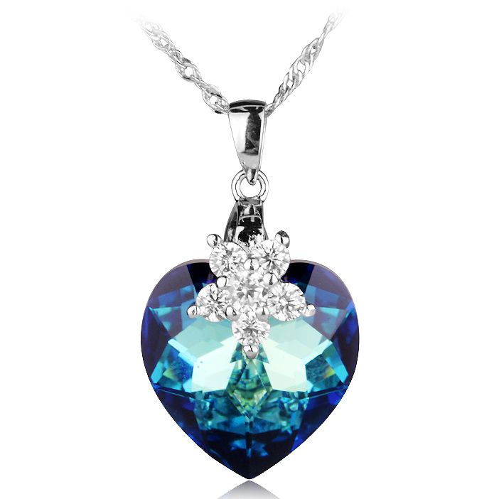 Royal blue Crystal Heart Pendant 925 Silver for Woman. A color for purity, for sincerity, for deep love like ocean. Made with 925 silver sterling, respecting environmental standard and decorated with beautiful high quality blue or purple  crystal heart shaped, you will certainly enjoy this choice. http://www.jijystore.ca/product/royal-blue-crystal-heart-pendant-925-silver-for-woman/