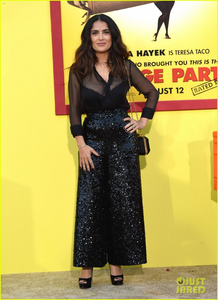 Salma Hayek, Seth Rogen & Paul Rudd Have Star-Studded 'Sausage Party' Premiere!: Photo #3730404. Salma Hayek strikes a pose while hitting the carpet at the premiere of her latest film Sausage Party held at the Regency Village Theatre on Tuesday (August 9) in…