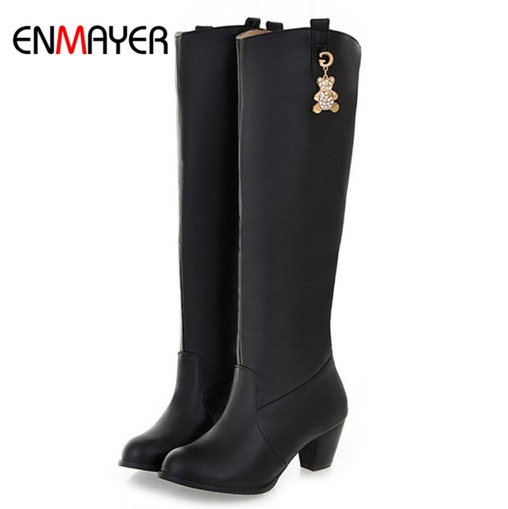 Find More Women's Boots Information about ENMAYER Square Heel Round Toe Knights Boots for Women High Platform Fashion Party Fall Boots NewSexy High Heels Boots Motorcycle,High Quality heel pain ankle pain,China boots heel pads Suppliers, Cheap heel motorcycle boots from ENMAYER CO., LIMITED on Aliexpress.com