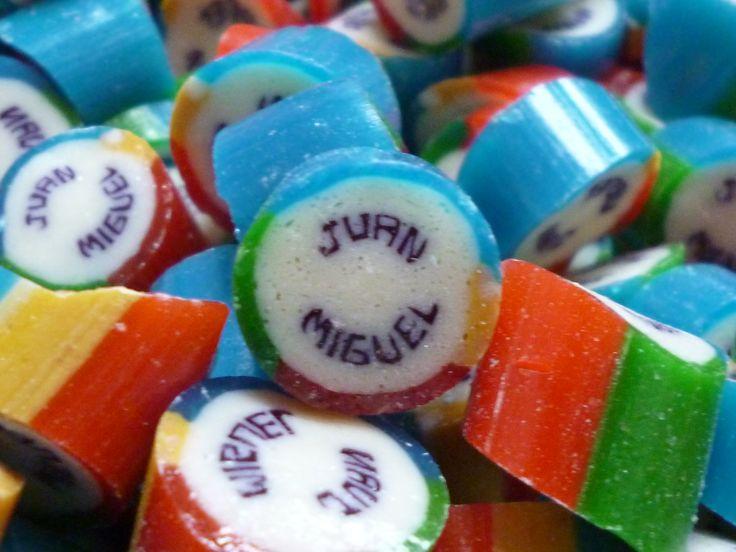 Caramelos artesanal personalizado con el nombre de Juan Miguel. #CaramelosArtesanalesPersonalizados