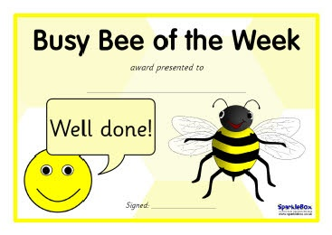 Ned. versie!!! Busy Bee certificates (SB55) - SparkleBox