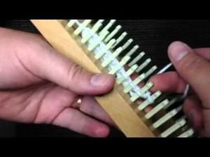 ▶ Loom Knitting: Figure 8, Fishnet or Diamond Lace Stitch - YouTube by felicia