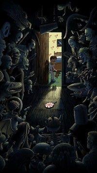 Straszne potwory w szafie dziecka