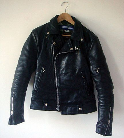 Vintage MEN'S LEATHER JACKET , men's biker jacket .............(331)