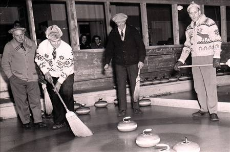 striking vintage image from Camrose Curling Club...