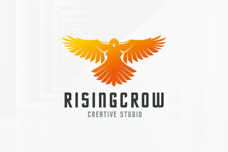 Rising Crow Logo Template by LiveAtTheBBQ on @creativemarket