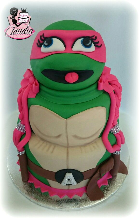 Girl Ninja turtle cake