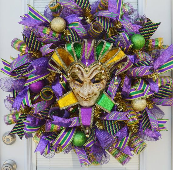 Whimisical Mardi Gras Wreath Jester Mask by WelcomeHomeCreative (scheduled via http://www.tailwindapp.com?utm_source=pinterest&utm_medium=twpin&utm_content=post26216060&utm_campaign=scheduler_attribution)