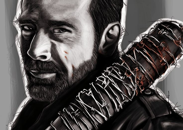 Portrait - Negan - TWD #aaska #illustration #twd #thewalkingdead #negan #photoshop #wacom #bretagne #auray