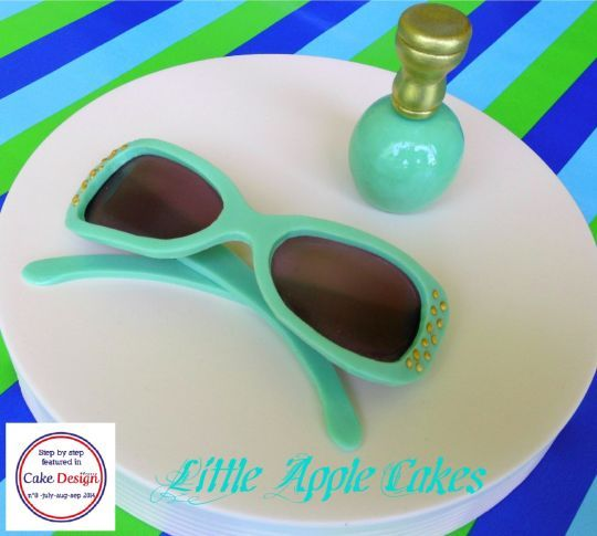 Cake Fondant Nails: Fondant Sunglasses And Nail Polish