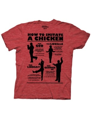 Arrested Development How To Imitate A Chicken Adult Heather Red T-shirt $17.95