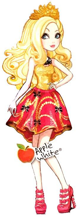 Ever After High: Apple White! As the next Snow White, Apple takes every bit of her future role to heart. Fulfilling the role of the generous, kind, and good-natured queen to perfection, she is no doubt the best suited to her destiny.