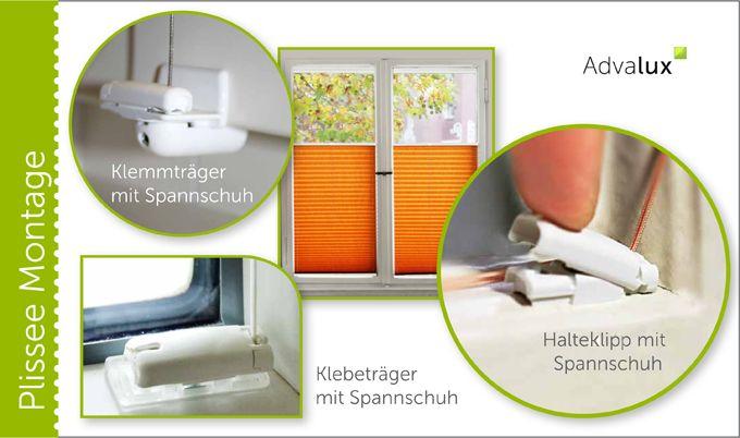 www.advalux.de ... MONTAGE OHNE BOHREN, PLISSEE AUS BERLIN, PLISSEE KLEBEN, PLISSEE MONTIEREN, PLISSEE OHNE BOHREN, PLISSEE VERSANDKOSTENFREI PLISSEE OHNE BOHREN – PLISSEEROLLO INKLUSIVE KLEBETRÄGER AB 37,94 €