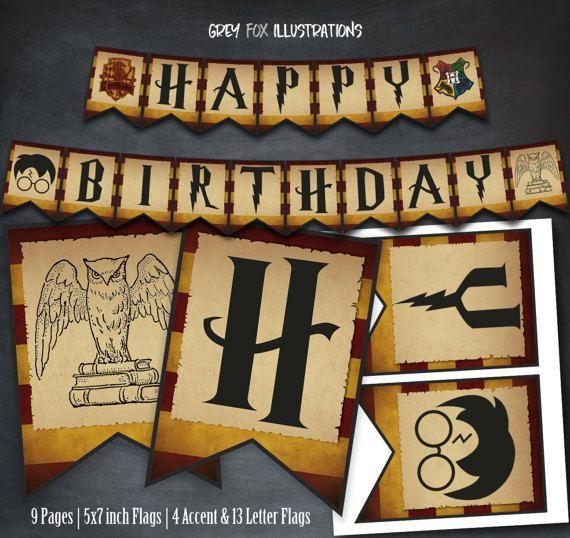 Harry Potter Banner Harry Potter Birthday Banner Printable