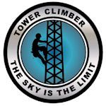 $1.25 Two inch diameter tower climber decal
