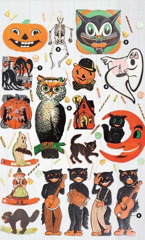 Retro Vintage Halloween Clip Art.The Collector S Guide To Vintage Halloween Decorations Happy