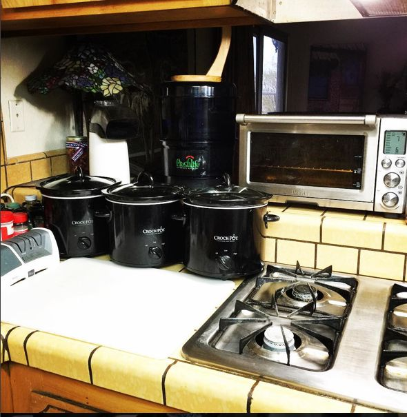 We ended up with three slow cookers in our new Vegetarian Kitchen. Read all about it in our January 2016 Newsletter at http://myemail.constantcontact.com/Aquaponics-USA-World-Newsletter--Obesity-in-AMERICA-Part-10--Our-Vegetarian-Kitchen-Continued.html?soid=1112251298842&aid=3Id08vrRApM