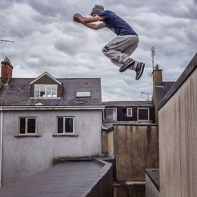 Repost Drewross97 Jumping The Gap Freerunning Parkour Jump Jumping Rooftop Wexford Irish Greatday Training Parkour Parkour Moves Free Running