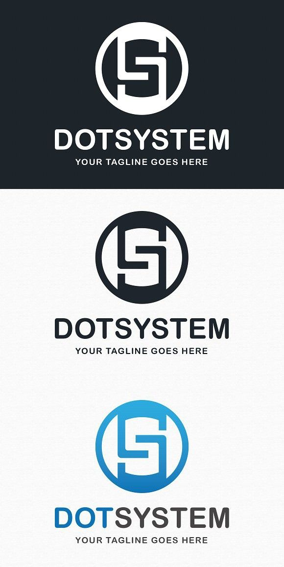 dot system logo template network design pinterest logo