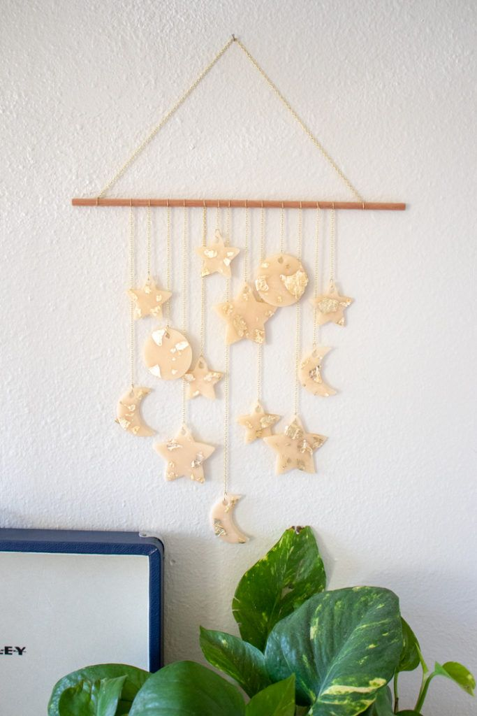 Diy Celestial Wall Hanging Wall Hanging Homemade Home Decor Crafts