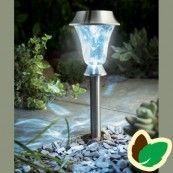 Solcelle bed og bordlampe - Rustfrit Stål