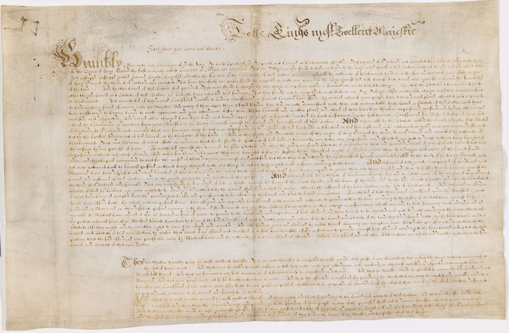 Explore 'The Petition of Right', a manuscript on the British Library's Magna Carta website.