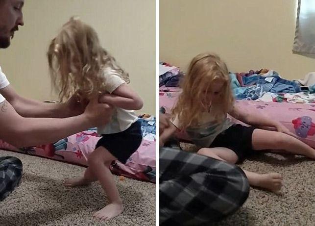 """Однажды малышка Эвелин Льюис перестала держаться на ногах… Ее мама и папа, Аманда и Ланц, не могли понять, что стало с ребенком. Теперь они делятся видеозаписью и словами, которые пригодятся не одному родителю.  Вот что написала у себя в Facebook мама Аманда:  """"Сегодня у нас было ужасное утро. К"""