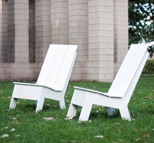 Move freely with our Picket armless chair by Loll Designs USA. It comes in cool colours too.