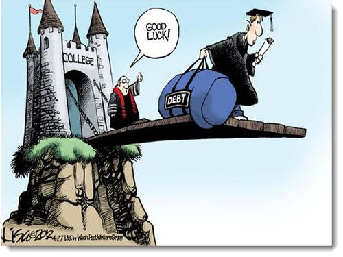 Image result for college debt cartoon