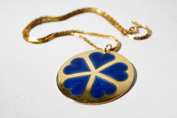 Monique Olivier Necklace  Modernist Enamel  Quebec by LuckyPatina, $35.00