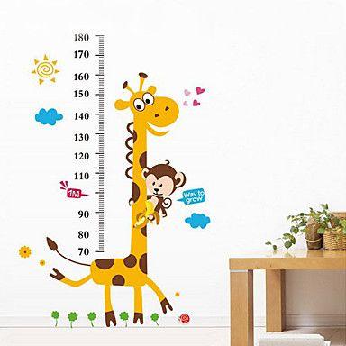 1pcs kleurrijke giraf muursticker voor kinderen meten hoogte – EUR € 9.99