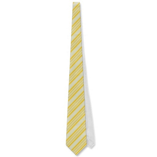 Striped Ties For Men Pale Yellow And Gold