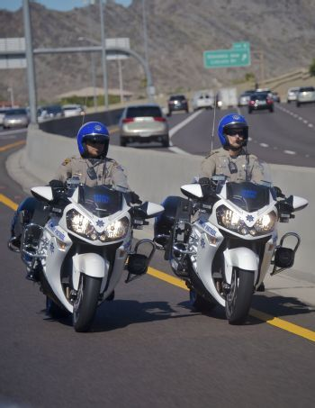 Arizona Highway Patrol Kawasaki Motorcycles