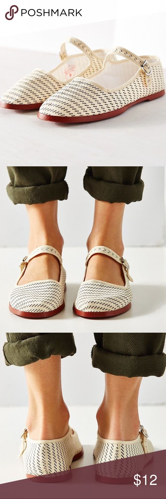 Urban Outfitters Cotton Mary Jane Flats (Size 8) NWT Urban Outfitter cotton Mary Jane flats. Never been used. Cozy, cute, and trendy *EVERY ORDER COMES WITH A FREE GIFT!* Urban Outfitters Shoes Flats & Loafers