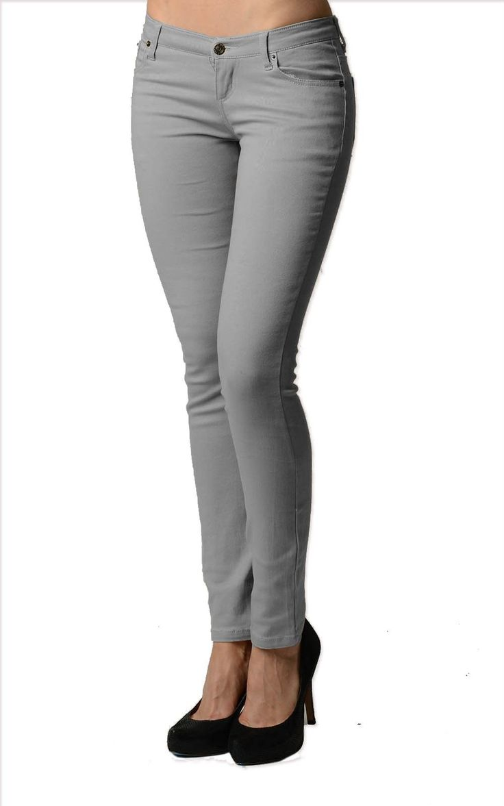 Smooth Grey Color Denim Skinny Jeans | Upskirt Clothing And Accessories | Pinterest | Gray color ...