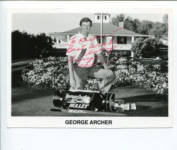 George Archer PGA Masters Golf Golfer Champ Signed Autograph Photo #PlayingABetterGolfGame