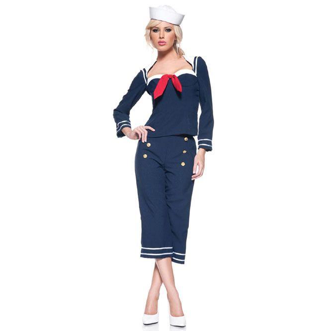 Disfraz de Marinera Años 50 para mujer