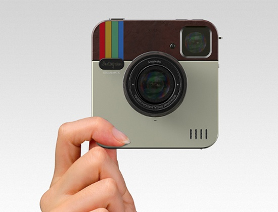 Instagram camera in real form